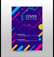 covers design with geometric rounded lines vector image vector image