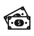 dollar banknotes icon vector image