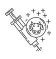 farming vaccine icon hand drawn icon set outline vector image
