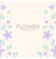 Flower background concept vector image vector image