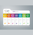 folder infographics design with 7 options vector image vector image