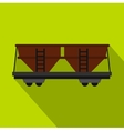 Freight railroad car icon flat style vector image vector image