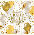 grand opening glitter gold logo vector image vector image