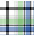 green blue check plaid pixel seamless pattern vector image vector image