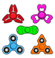 hand spinner toys flat icons vector image vector image