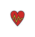 heartbeat icon set four elements in diferent vector image vector image