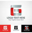 hi-tech trendy initial icon logo g vector image