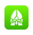 historical knight helmet icon green vector image vector image