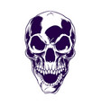 isolated skull with hat for logo and branding vector image