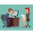 Job Interview Task Conversation Businessman at vector image vector image