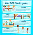 kindergarten characters infographics vector image