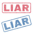 liar textile stamps vector image
