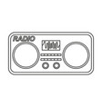 line art black and white old radio vector image vector image