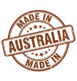made in australia brown grunge round stamp vector image vector image