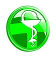 medicine symbol vector image vector image