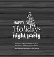 merry christmas night party background vector image vector image