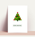 minimalistic clean modern christmas poster or vector image