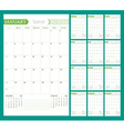 Monthly Calendar Planner for 2016 Year Design vector image