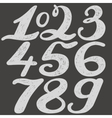 Numbers set in hand drawn calligraphy style vector image vector image
