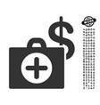 payment healthcare icon with men bonus vector image vector image
