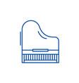 piano line icon concept piano flat symbol vector image vector image