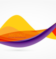 purple and yellow color wave background design vector image vector image