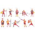 roman soldiers ancient army warriors rome vector image