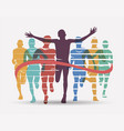 running athletes symbol sport and competition vector image vector image