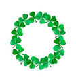 saint patricks wreath vector image vector image