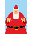 Santa Claus in red dress Christmas character with vector image vector image