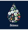 Science genetics biochemistry icon vector image