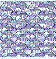 seamless abstract with geometric pattern vector image vector image