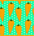 seamless vintage pattern with orange carrots vector image vector image