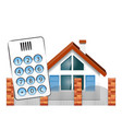 security alarm for the house vector image