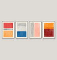 set abstract hand painted vector image vector image