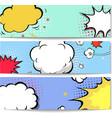 set comics boom backgrounds vector image vector image