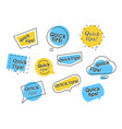 set of colorful quick tips logos vector image