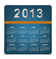 Simple 2013 year calendar vector | Price: 1 Credit (USD $1)