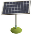 solar panel on grass green renewable vector image