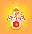 summer sale with thermometer special offer vector image vector image