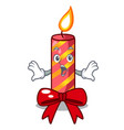 surprised christmas candle combined with pita vector image vector image