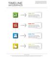timeline infografic vector image vector image