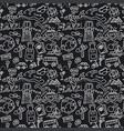 travel doodles pattern vector image vector image
