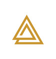 triangle line logo template vector image
