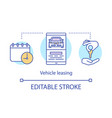 vehicle leasing concept icon automobile hire vector image vector image