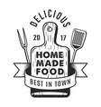 vintage kitchen utensil monochrome logotype vector image vector image