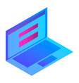 visualization laptop icon isometric style vector image