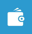 Wallet icon white on the blue background vector image