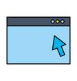 website window click arrow digital vector image