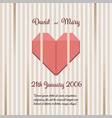 wedding invitation with abstract background vector image vector image